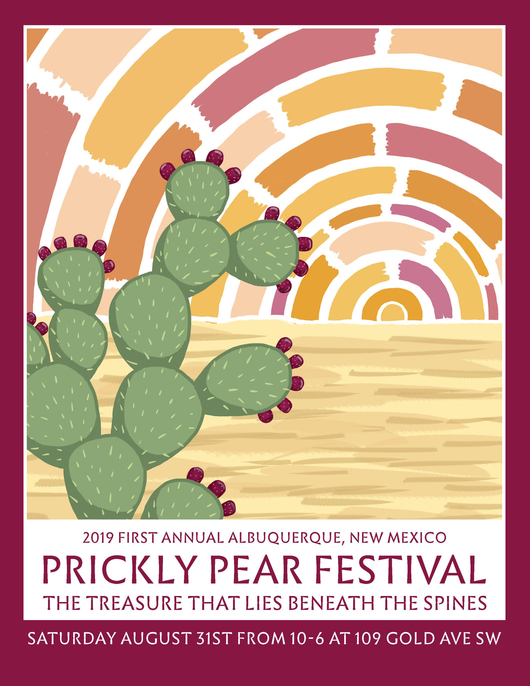 Commemerative Poster 1st Annual NM Prickly Pear Festival