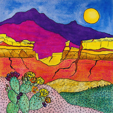 Load image into Gallery viewer, Cactus Cliffs - art print