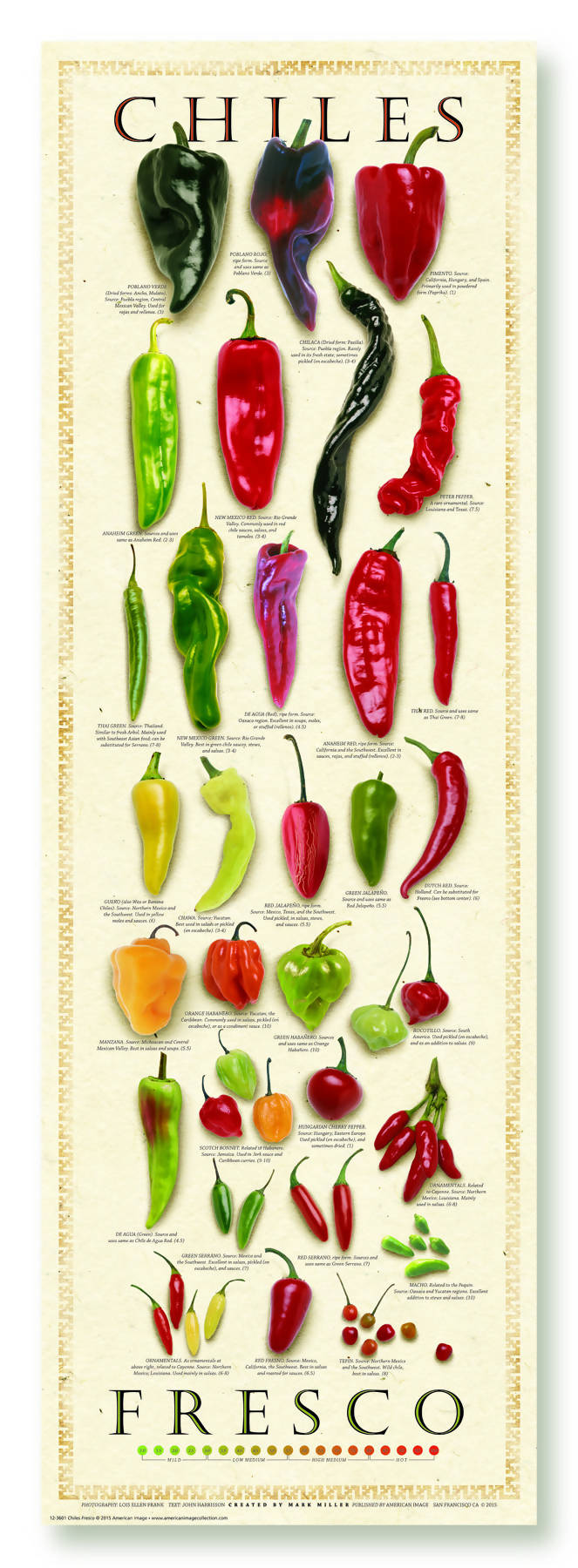 The Great Chile Poster 12x36 (Fresh Chiles)