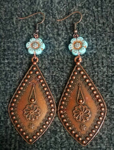 Load image into Gallery viewer, Turquoise Blossom Earrings