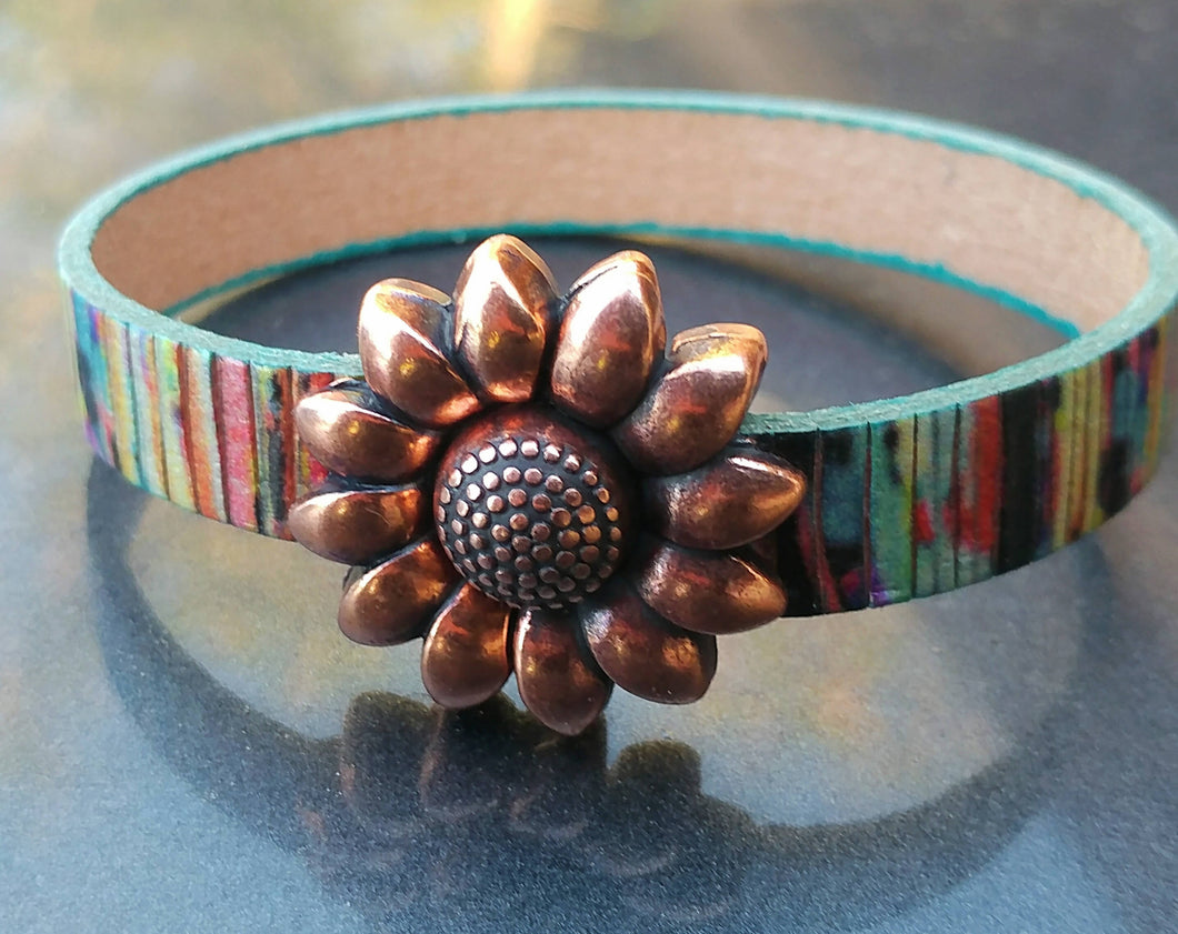 Painted Desert Copper Sunflower Bracelet