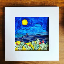 Load image into Gallery viewer, Moonlight on the Mesa - art print
