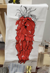 Chile Ristra Dish Towel