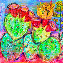 Load image into Gallery viewer, Big Bright Cactus - art print