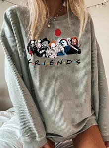 Women Cute Oversized Print Sweatshirt