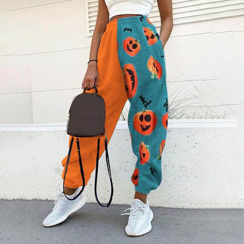 Halloween print sweatpants