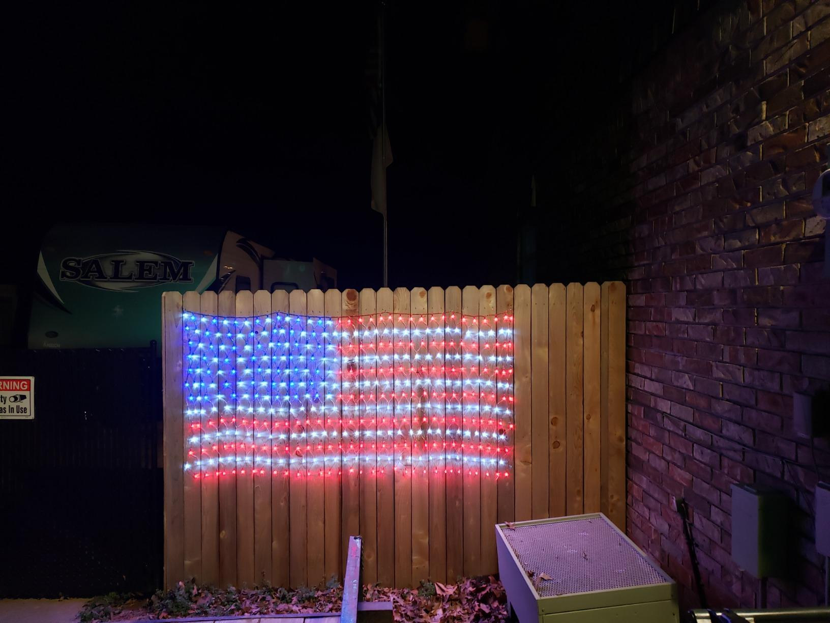 American Flag 420 Led String Lights