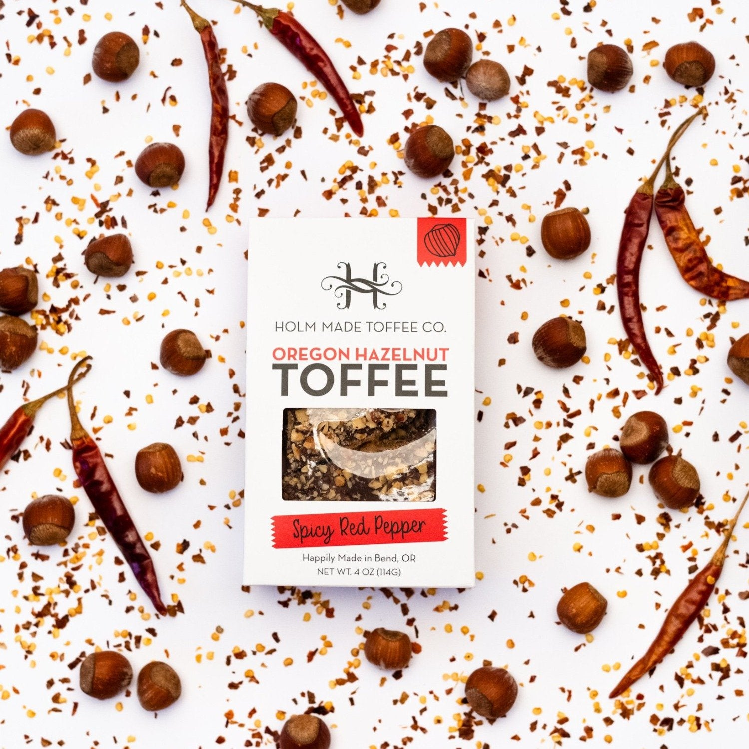 Spicy Red Pepper Hazelnut Toffee
