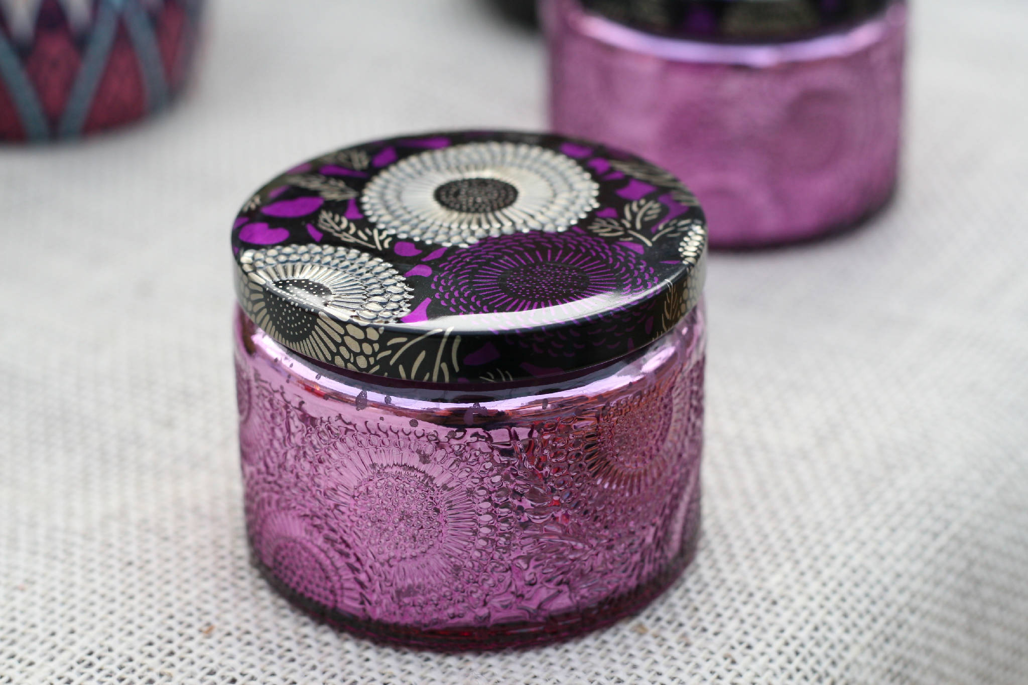Purple Glass Soy Candle