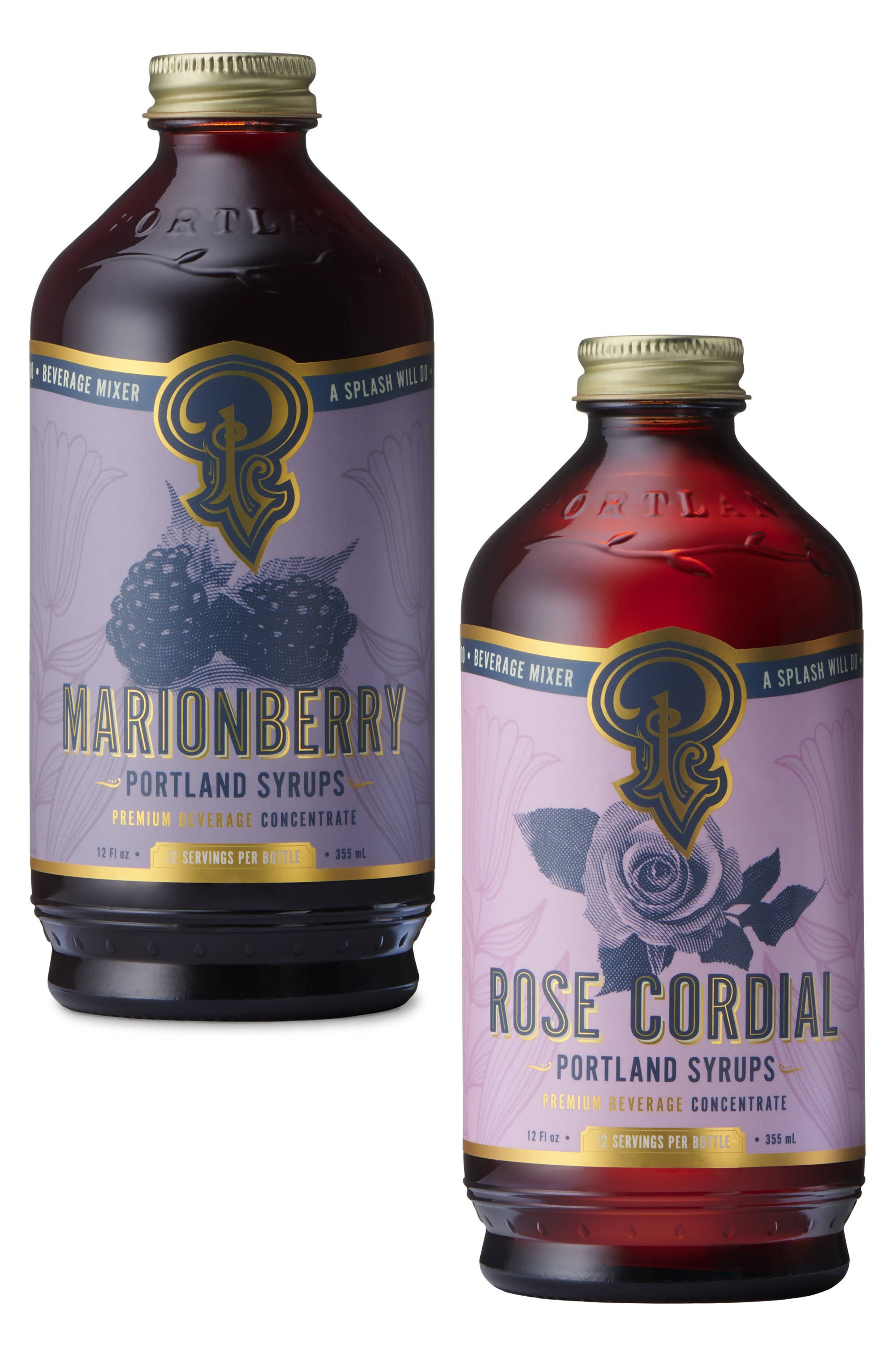Marionberry and Rose Cordial