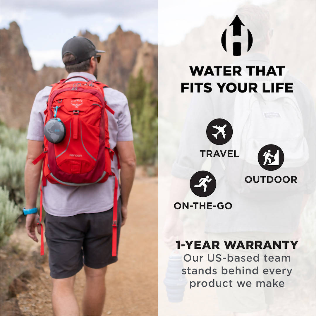 HYDAWAY Travel Case For Collapsible Water Bottles