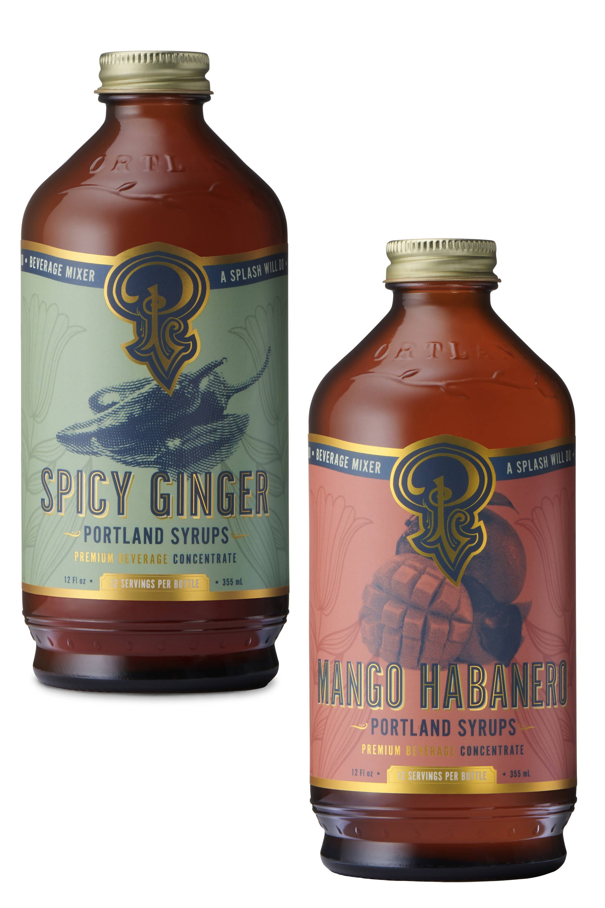 Spicy Ginger and Mango Habanero Syrups