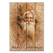 Open image in slideshow, Father Christmas on Wood - Classic Santa Wall Art