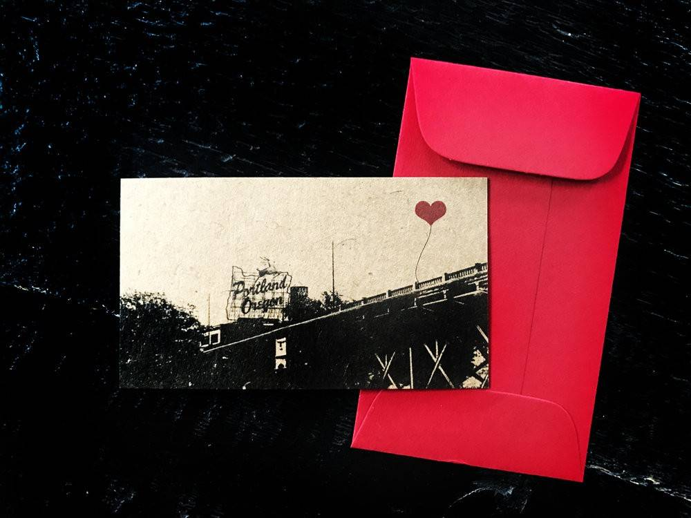 Portland Oregon gift tags set of 3 - Choose from Hawthorne Bridge, Stag Sign, or St John's Bridge
