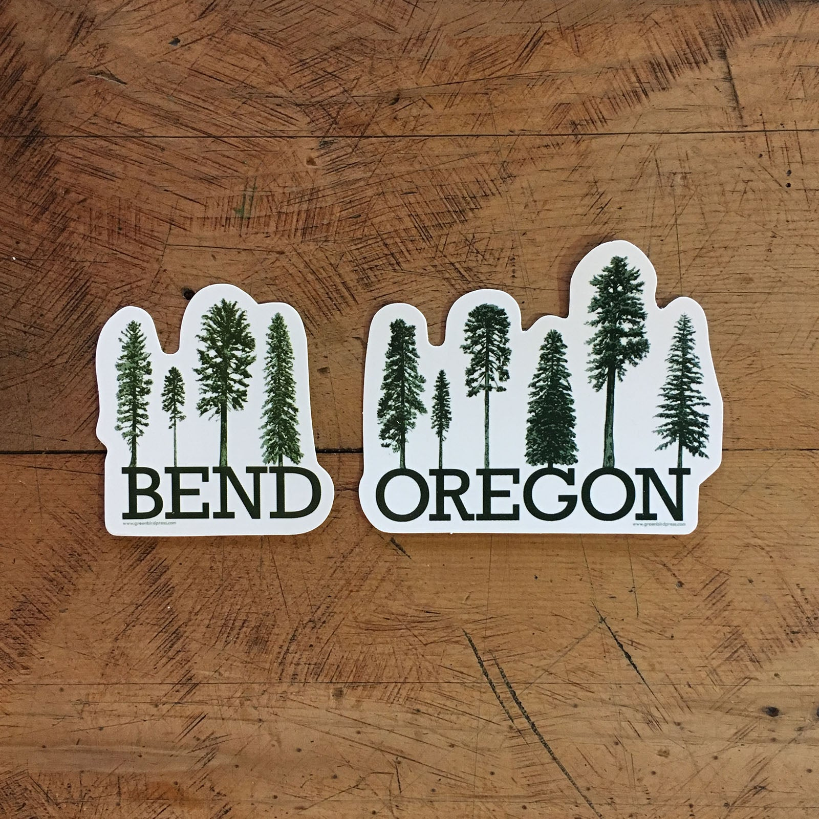 Bend & Oregon Conifer Tree Stickers