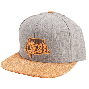 Open image in slideshow, Camping InTent Cork Brim Snapback