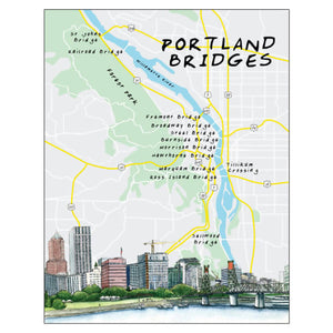 Open image in slideshow, The Bridges of Portland notecard