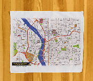 Open image in slideshow, Soft City and Trail Maps - Pocket Map Printed on Kerchief Handkerchief