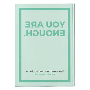 You Are Enough Journal | Hardcover Notebook with Perforated Pages | Great Gift