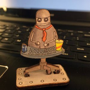 Open image in slideshow, Office Drone Action Figure
