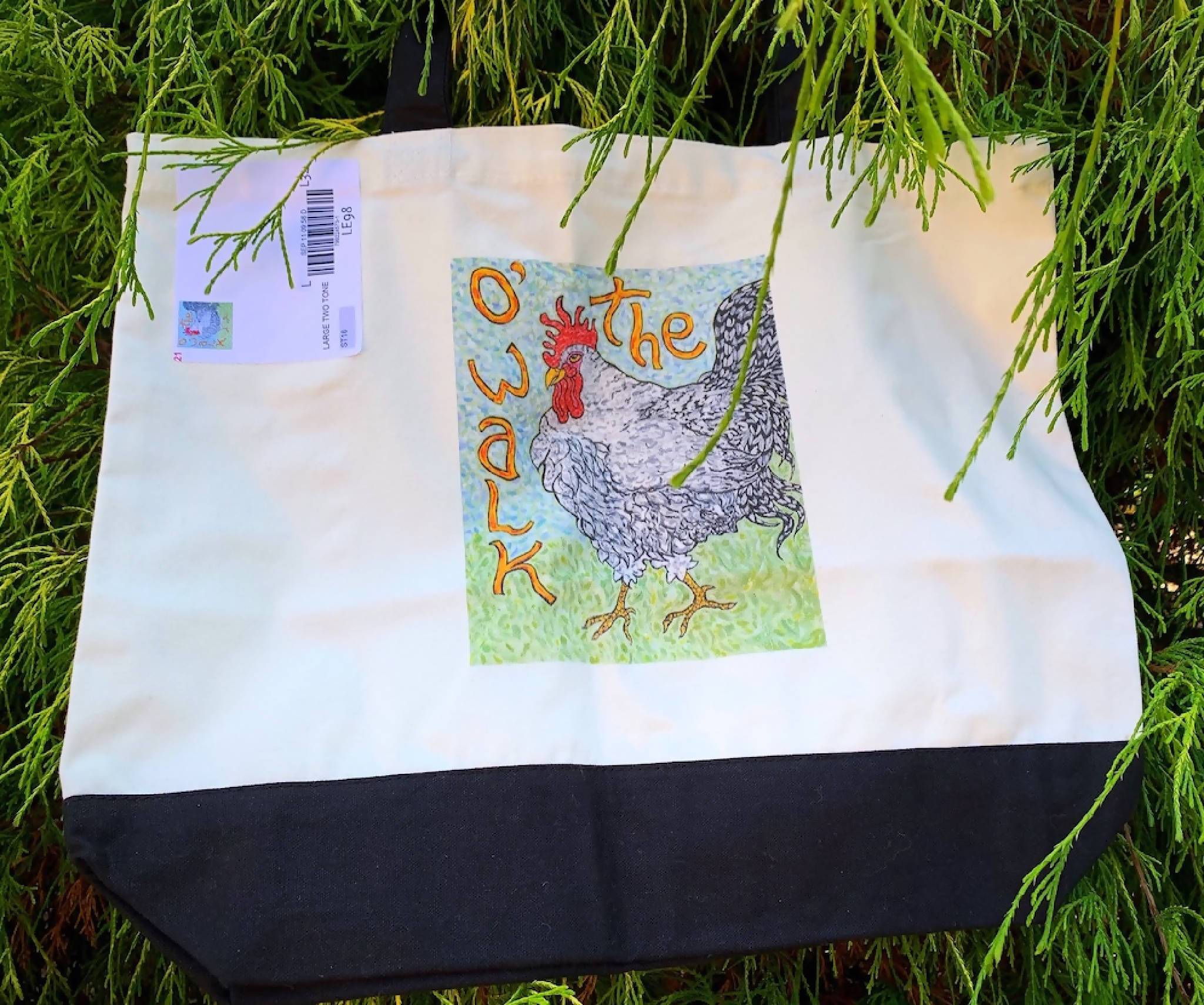 Art Rooster Tote Two Tone