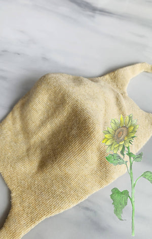 Open image in slideshow, Botanical Dyed Organic Cotton Face Mask