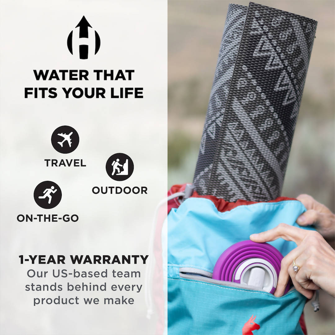 HYDAWAY Collapsible Water Bottle | 17oz | Spout Lid