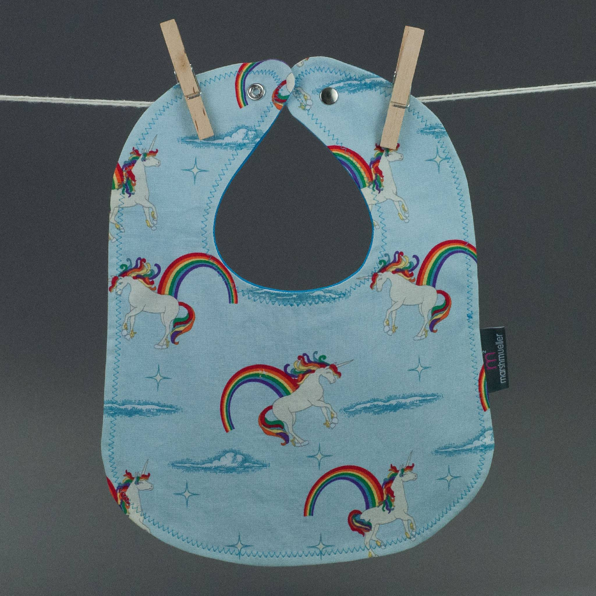 Unicorns + Rainbows Bib