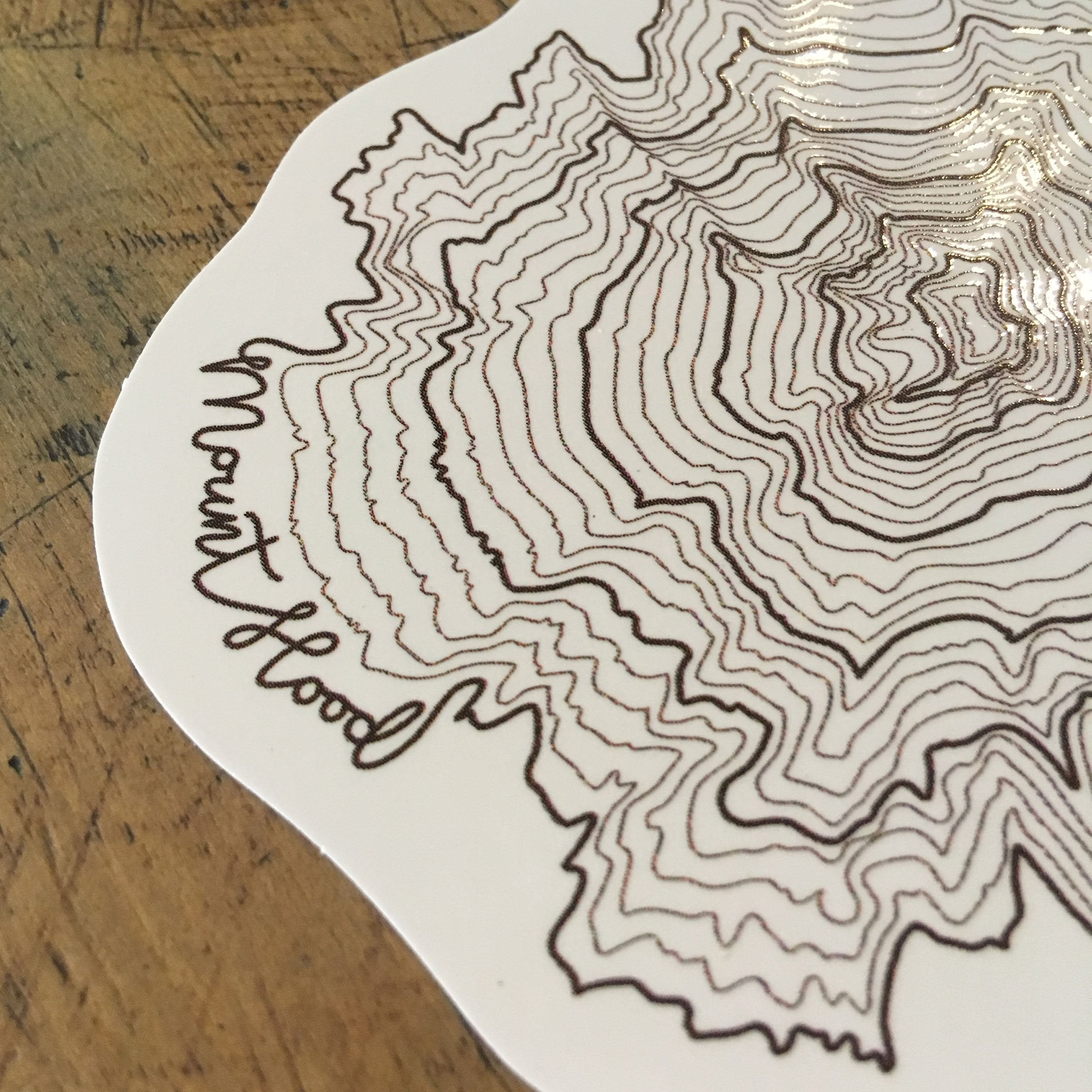 Oregon Topographic Map Stickers