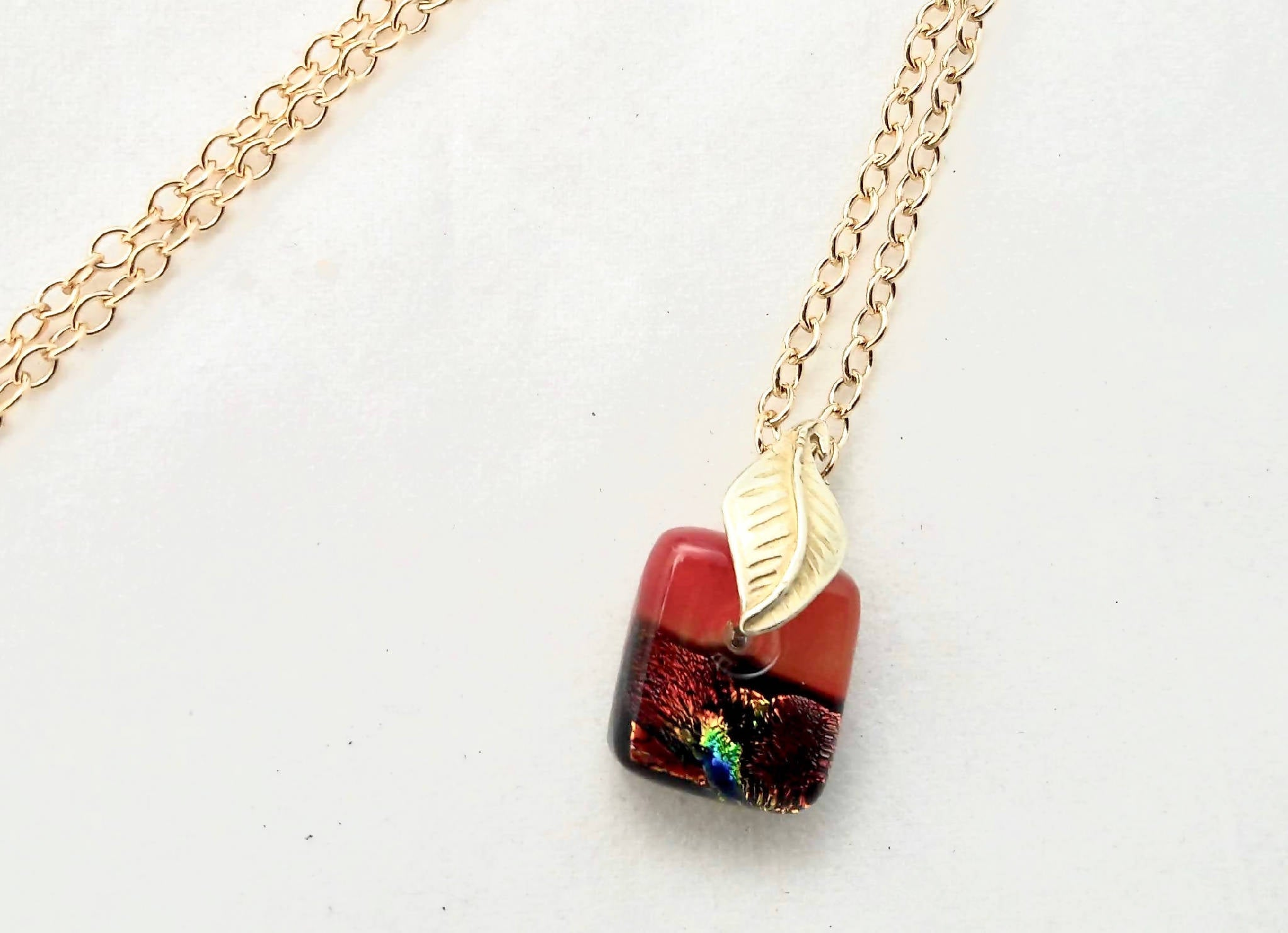 Fused glass micro pendant – Lava