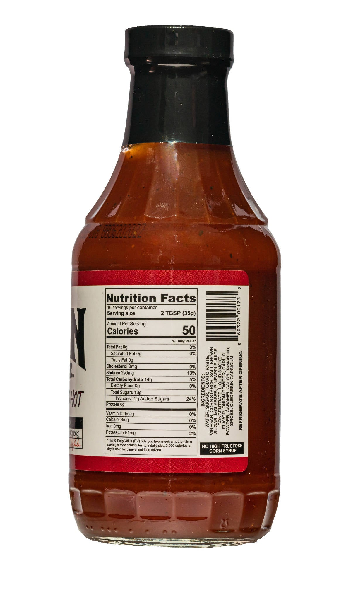 4 Pack - Best Damn BBQ Sauce - Hot Damn That's Hot - 20 OZ