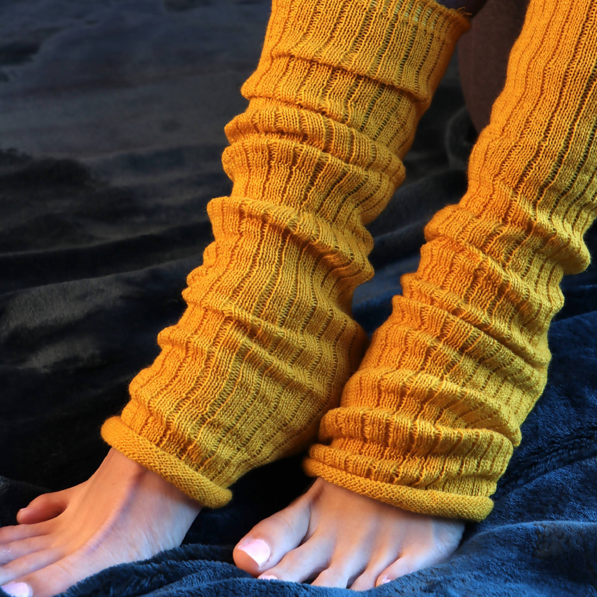 Wool Blend Ribbed Arm/Leg Warmers