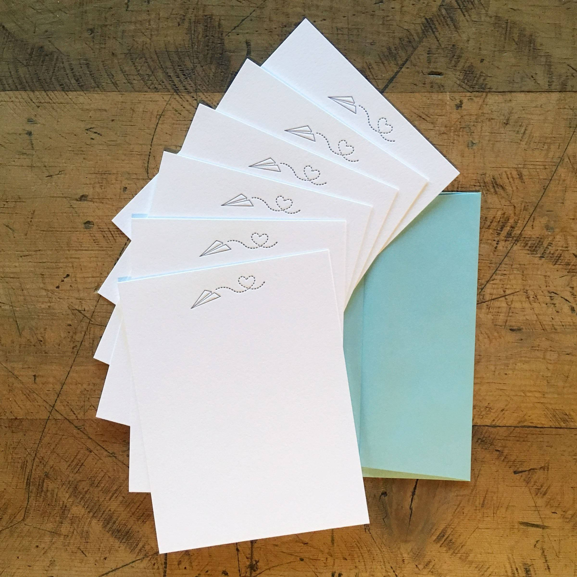 Sending Love Letterpress Notecards - Set of 6