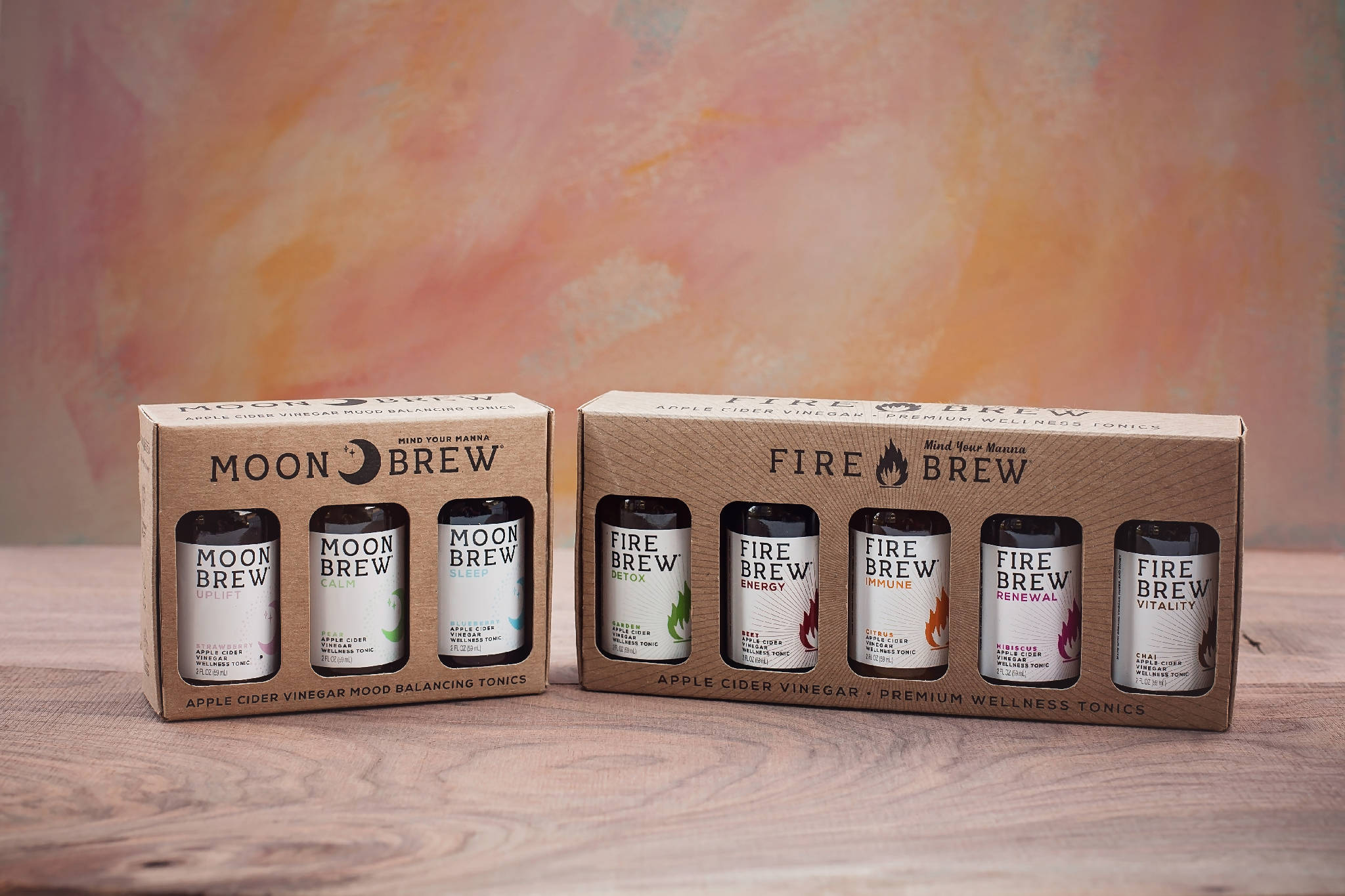 Yin Yang Sampler Box Gift Pack | Moon and Fire Brew | Apple Cider Vinegar Superfood Tonics