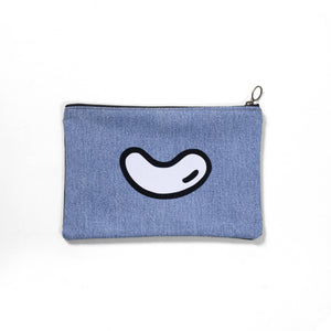 Open image in slideshow, Upcycled denim pouch: shine light