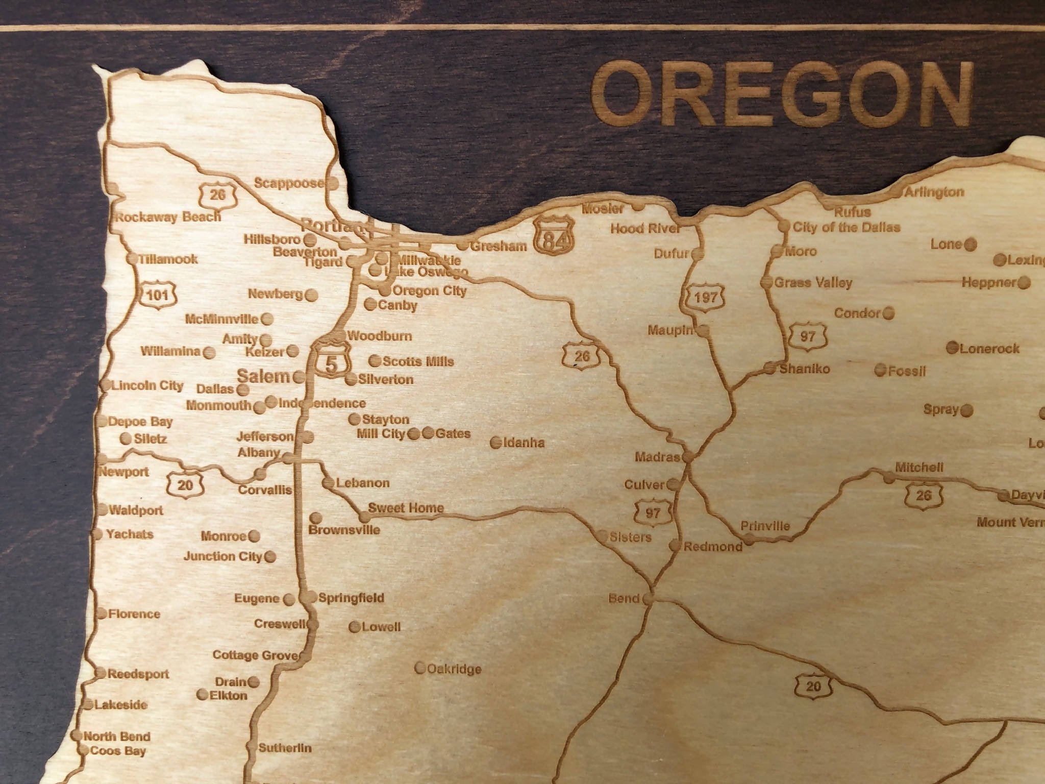Oregon State Map Wall Plaque