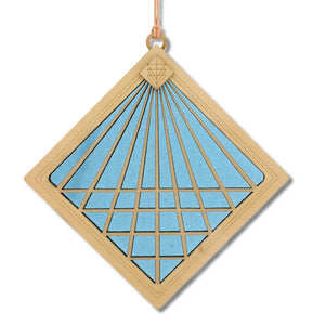 "Open image in slideshow, ""CONVERGENCE"" Suncatcher - Stained Glass & Wood window decor"