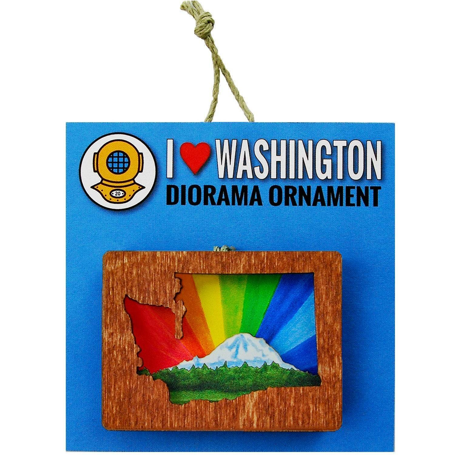 Rainbow Mt. Rainier Washington Ornament or Magnet