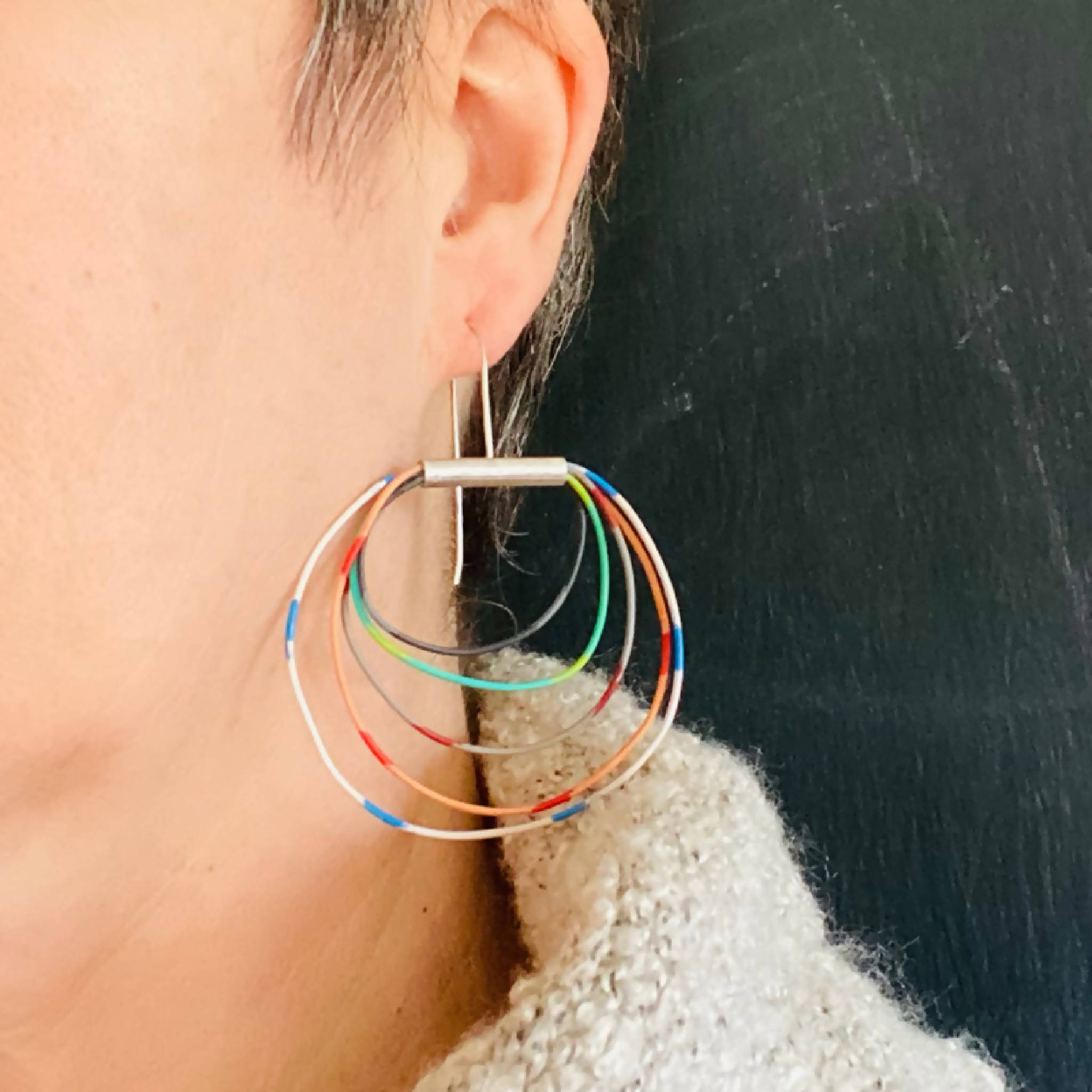 Colored Loops Earrings