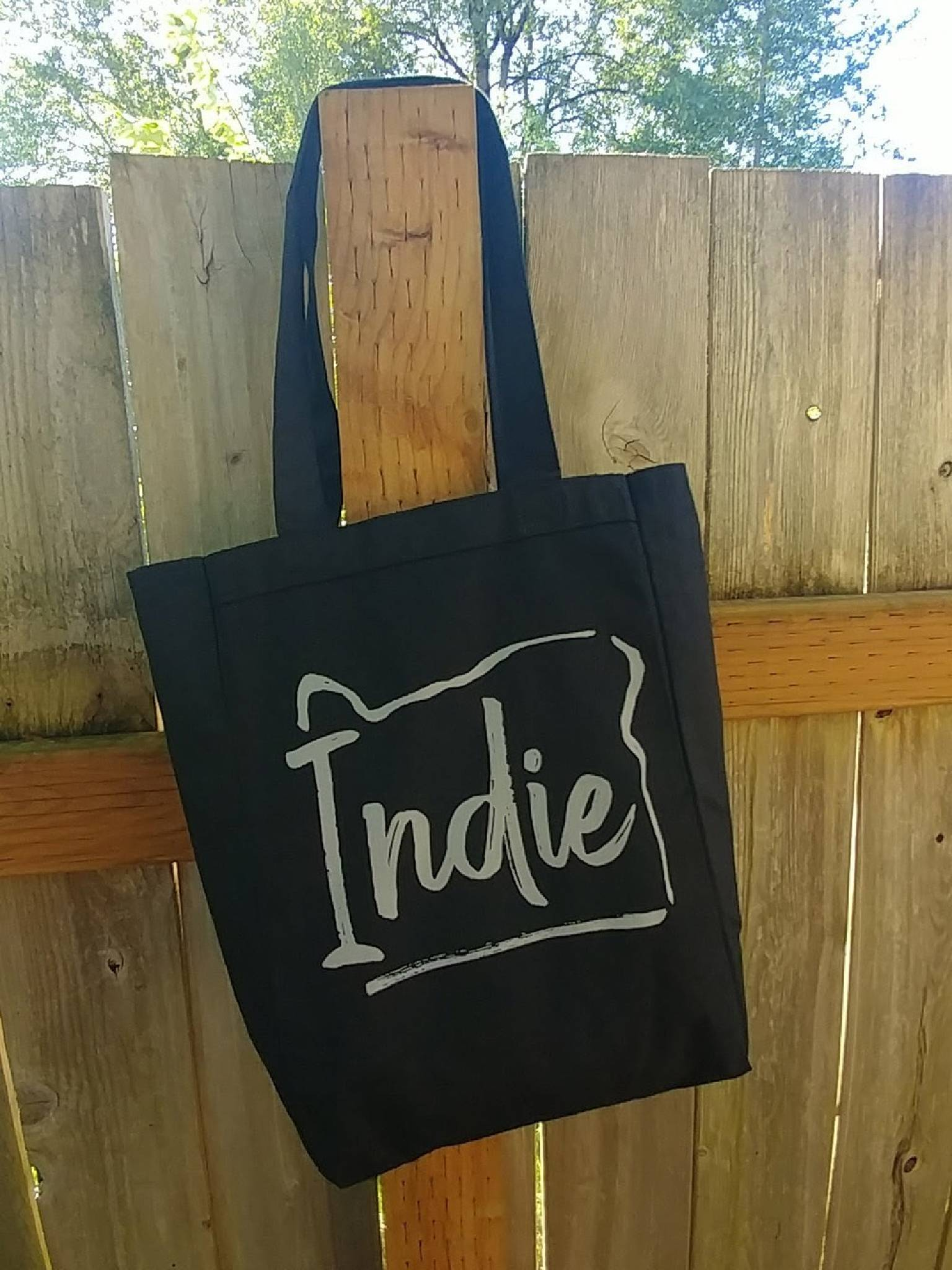 Indie Oregon Black Canvas Tote