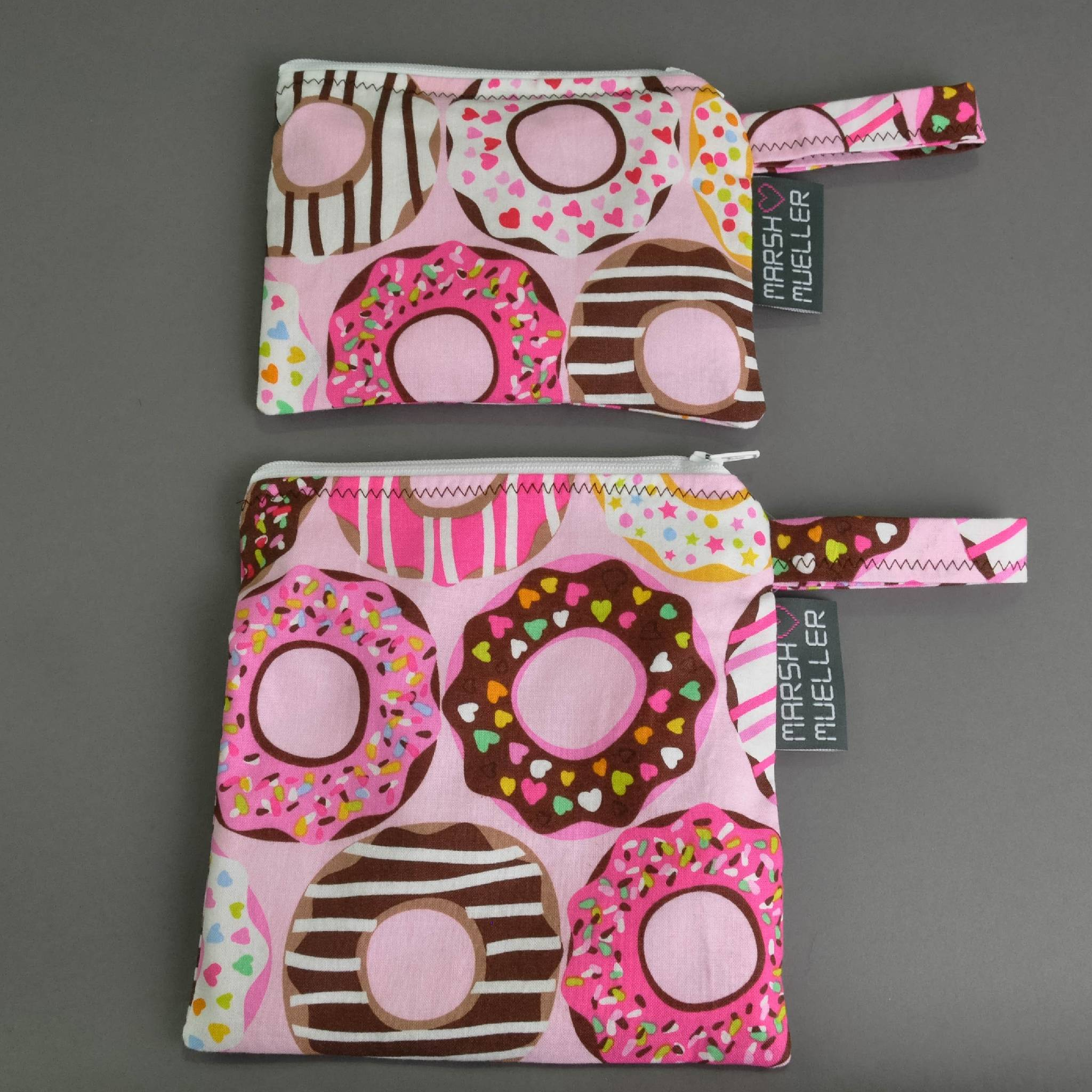 Pink Doughnuts Snack and Sandwich Bag Bundle