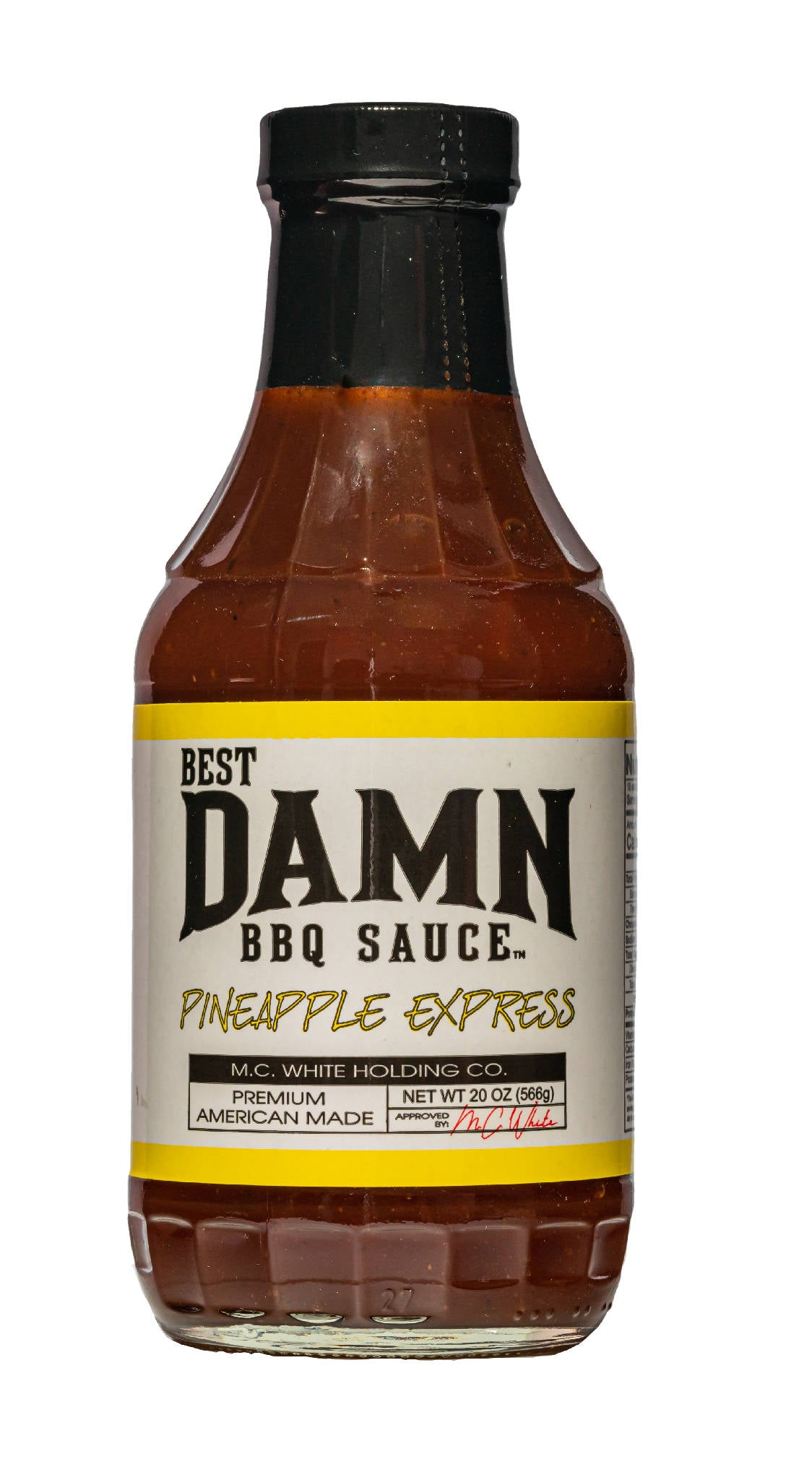 4 Pack - Best Damn BBQ Sauce - Pineapple Express - 20 OZ