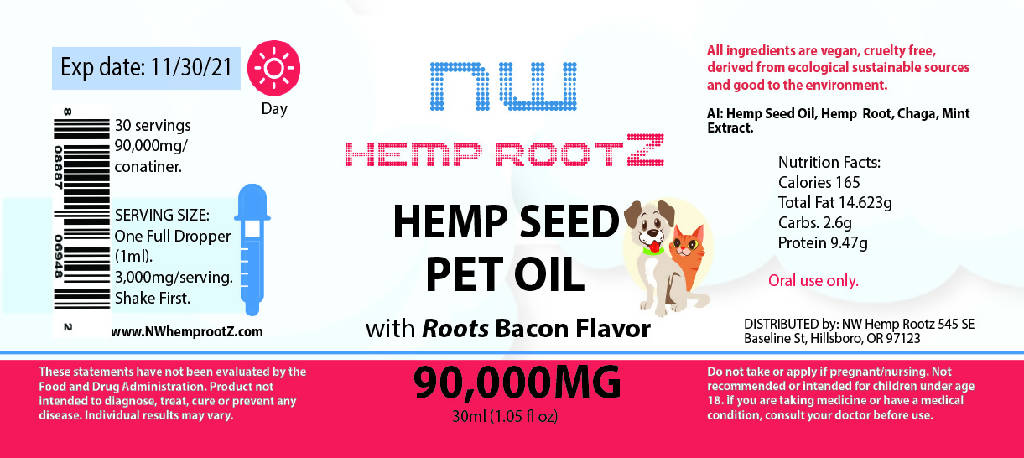 NW Hemp Rootz Pet Oil with Chaga and Hemp Seed