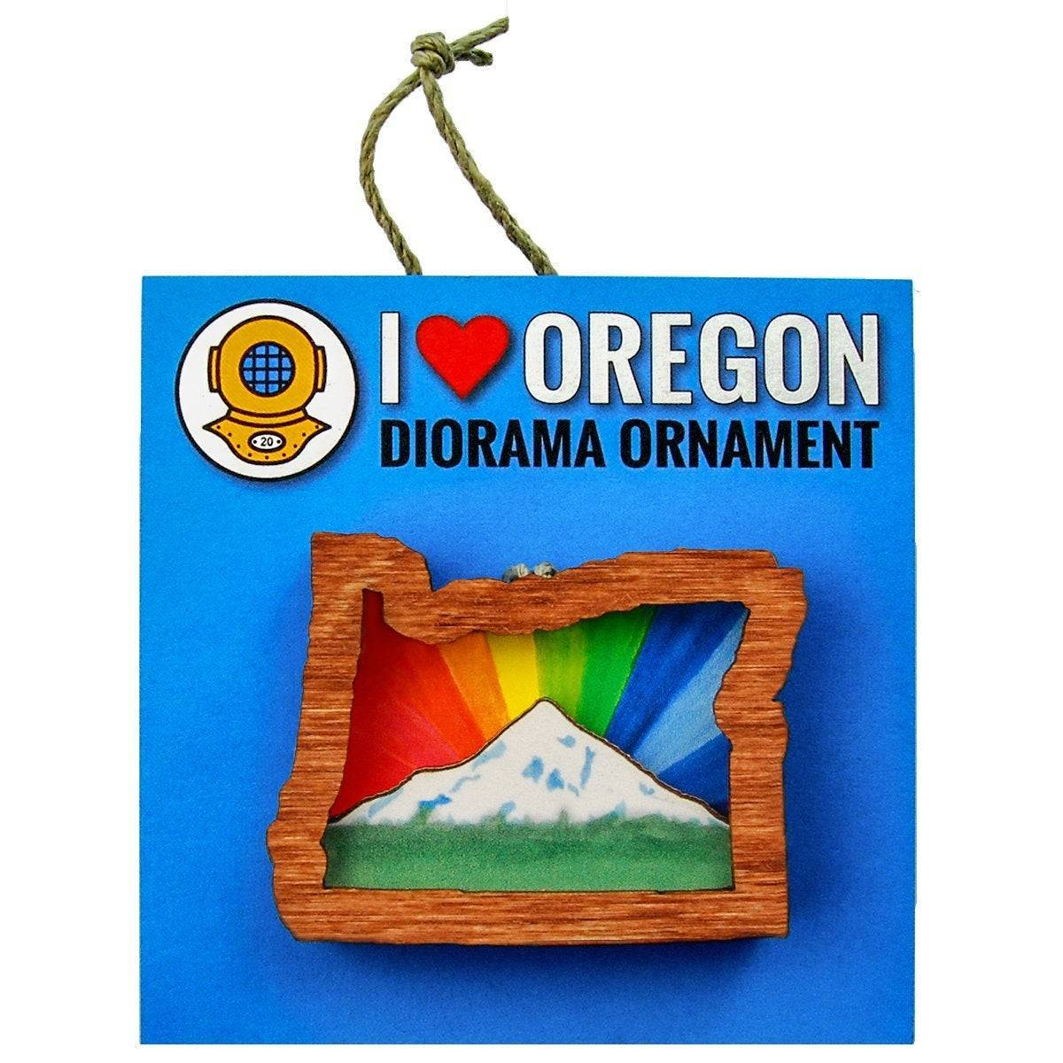 Rainbow Mt. Hood Oregon Ornament or Magnet