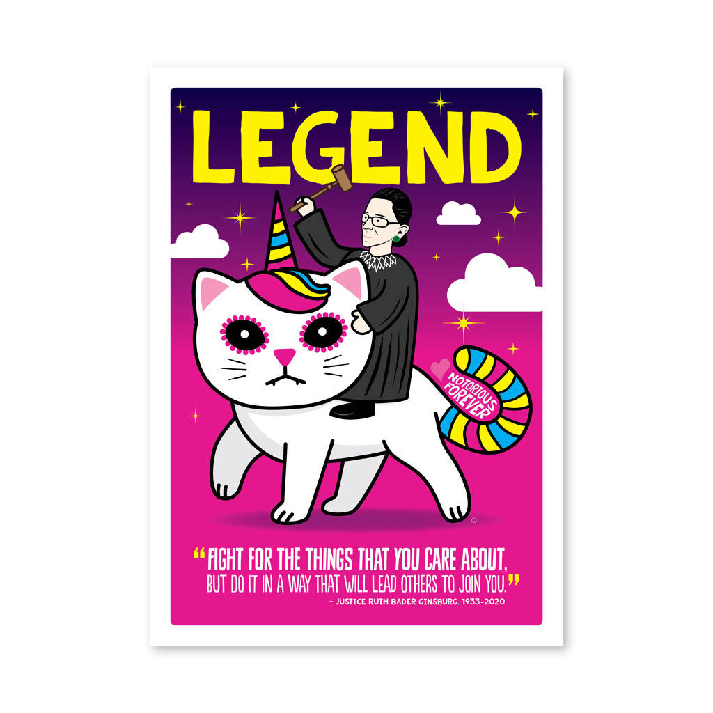 RBG Unicorn Kitty Greeting Card