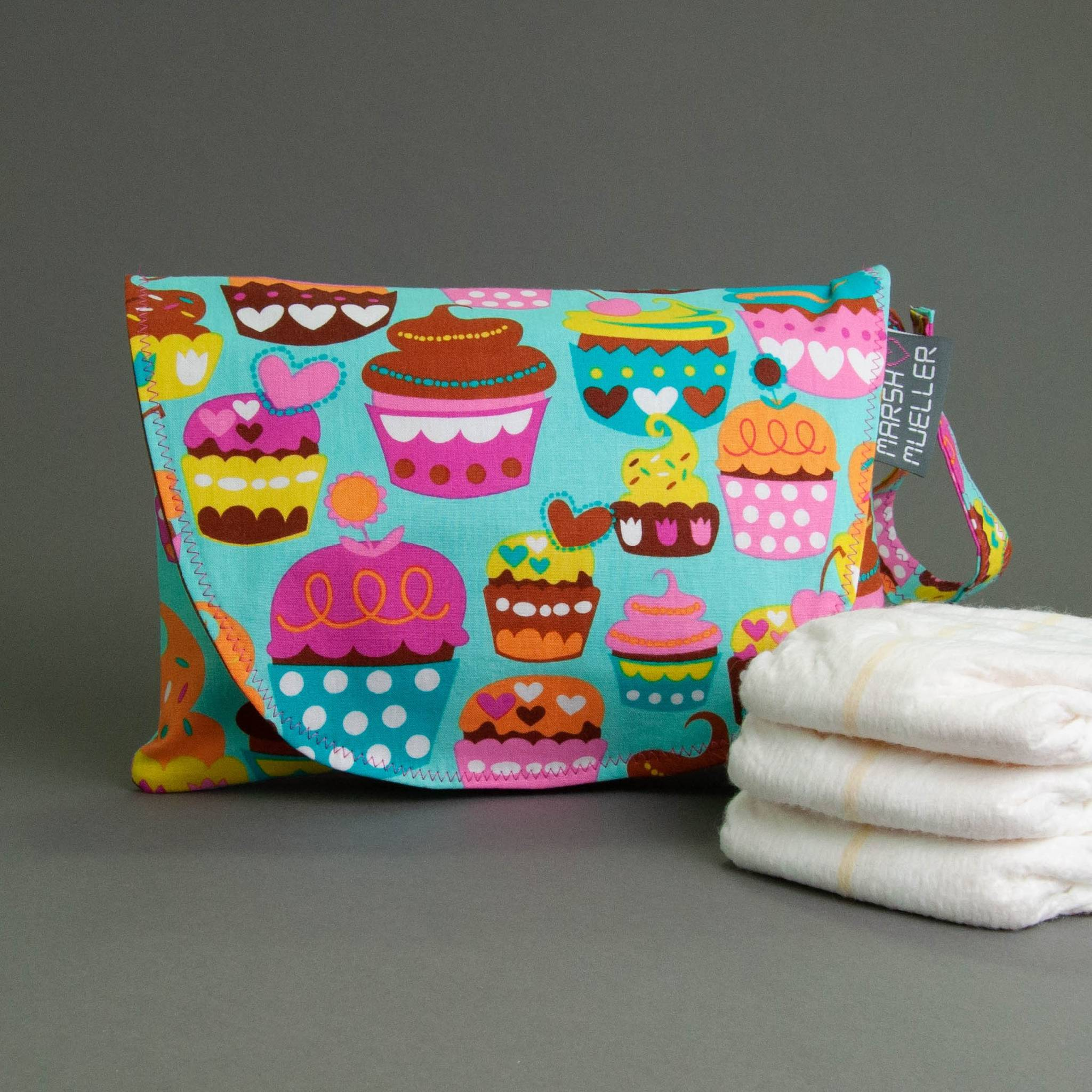 Sweet Cuppin' Cakes Diaper + Wipe Clutch