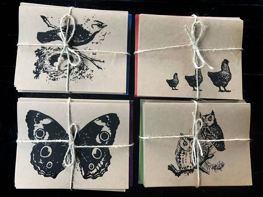 Woodland Animals - set of 8 note cards