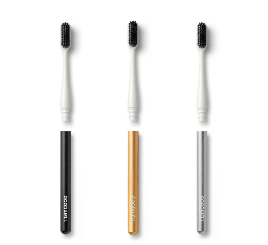 Premium Brush - Aluminum Toothbrush + Replaceable Brush Head