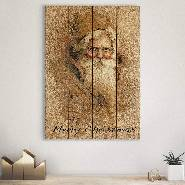 Father Christmas on Wood - Classic Santa Wall Art