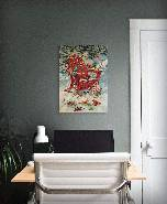 Birds on Winter Chair by Giordano - Wood Wall Art